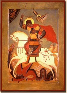 Icon of St George by Jon Snogren